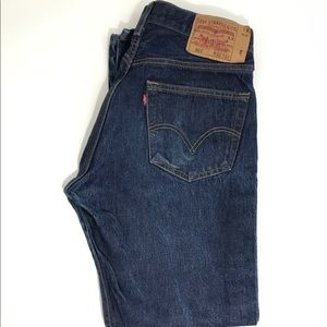 Levi's 501 Blue Jeans Straight Leg Button Fly W32